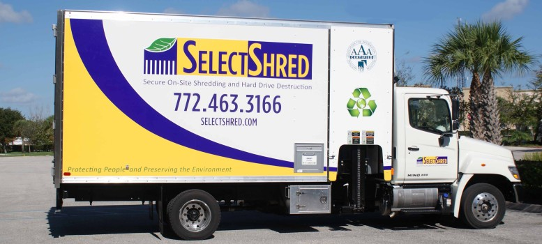 SelectShred On-Site Shredding Truck